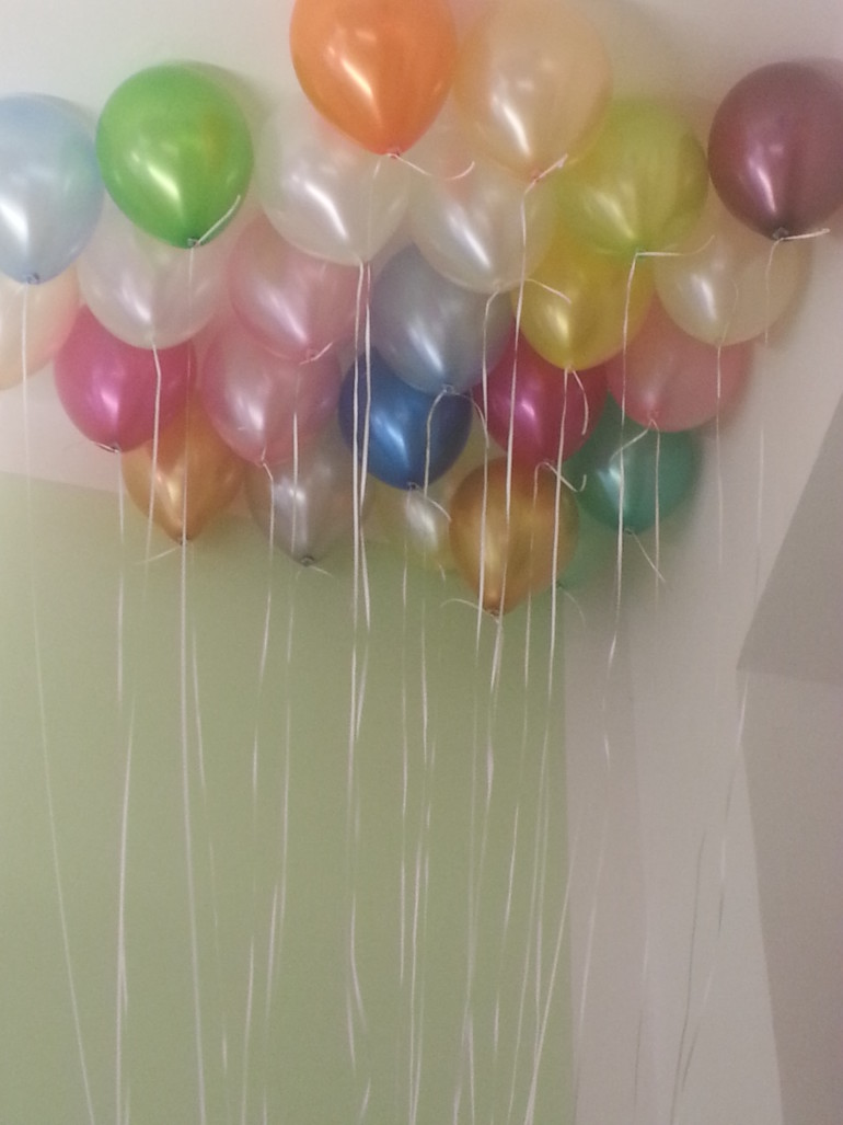 Latexluftballone bunt