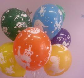 Latexballons diverse Farben und Motive