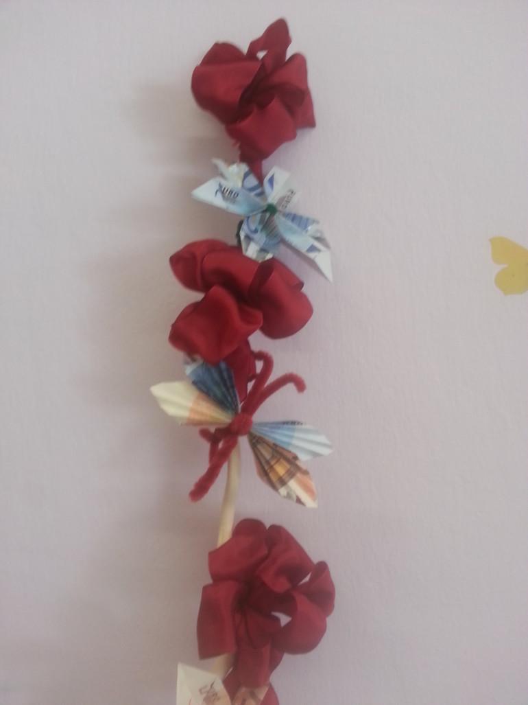 Geldgeschenk Schmetterling und Blüte