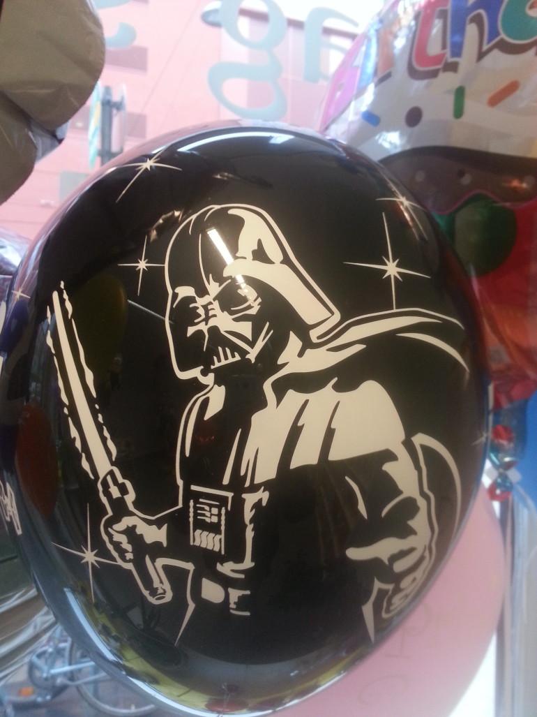 Latexballon schwarz Darth Vader