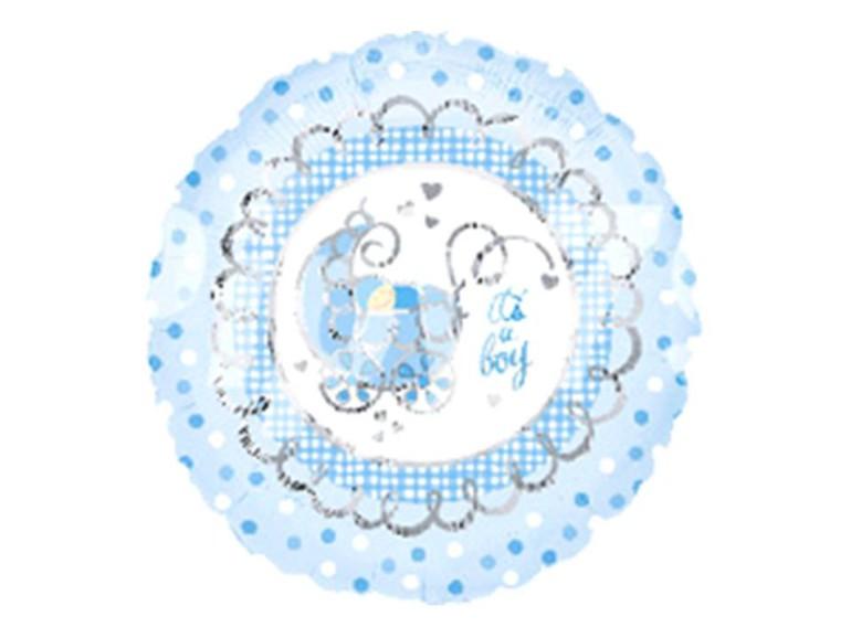 Folienballon It's a boy blau