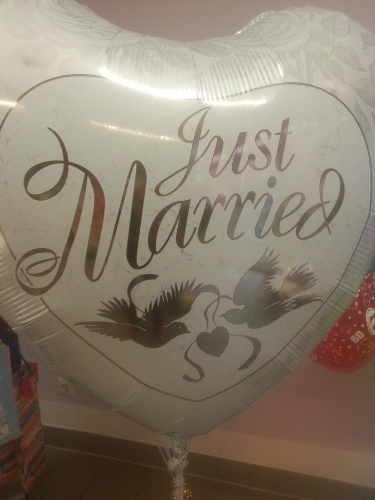 Folienherzballon Just Married