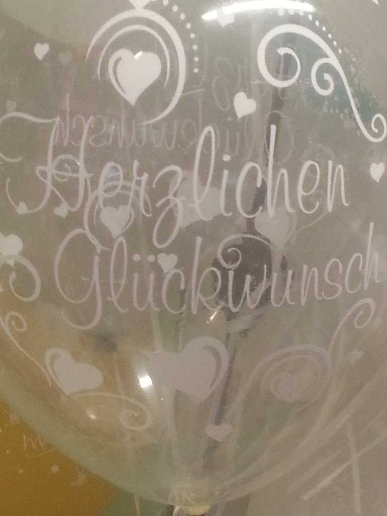 Latexballon durchsichtig Herzlichen Glückwunsch
