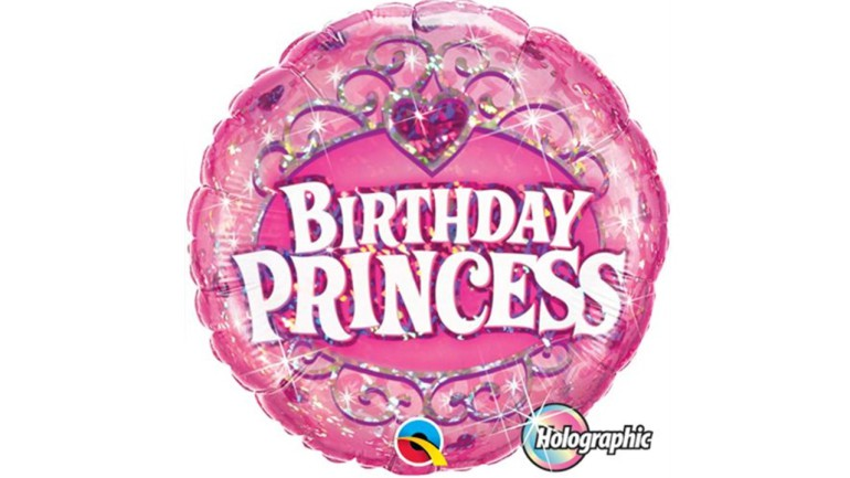 Folienballon Birthday Princess rosa