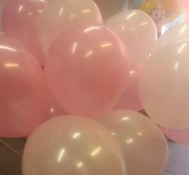 Latexballons rosa und weiß