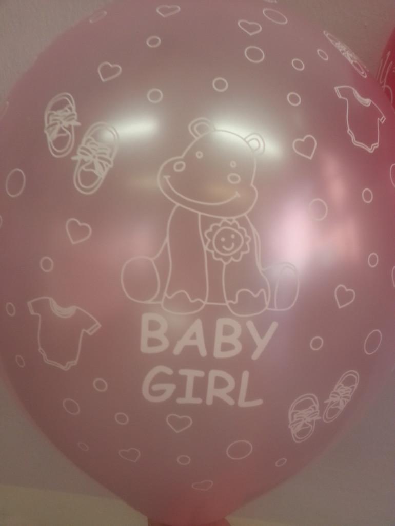 Latexballon Baby Girl rosa