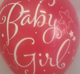Latexballon Baby Girl pink