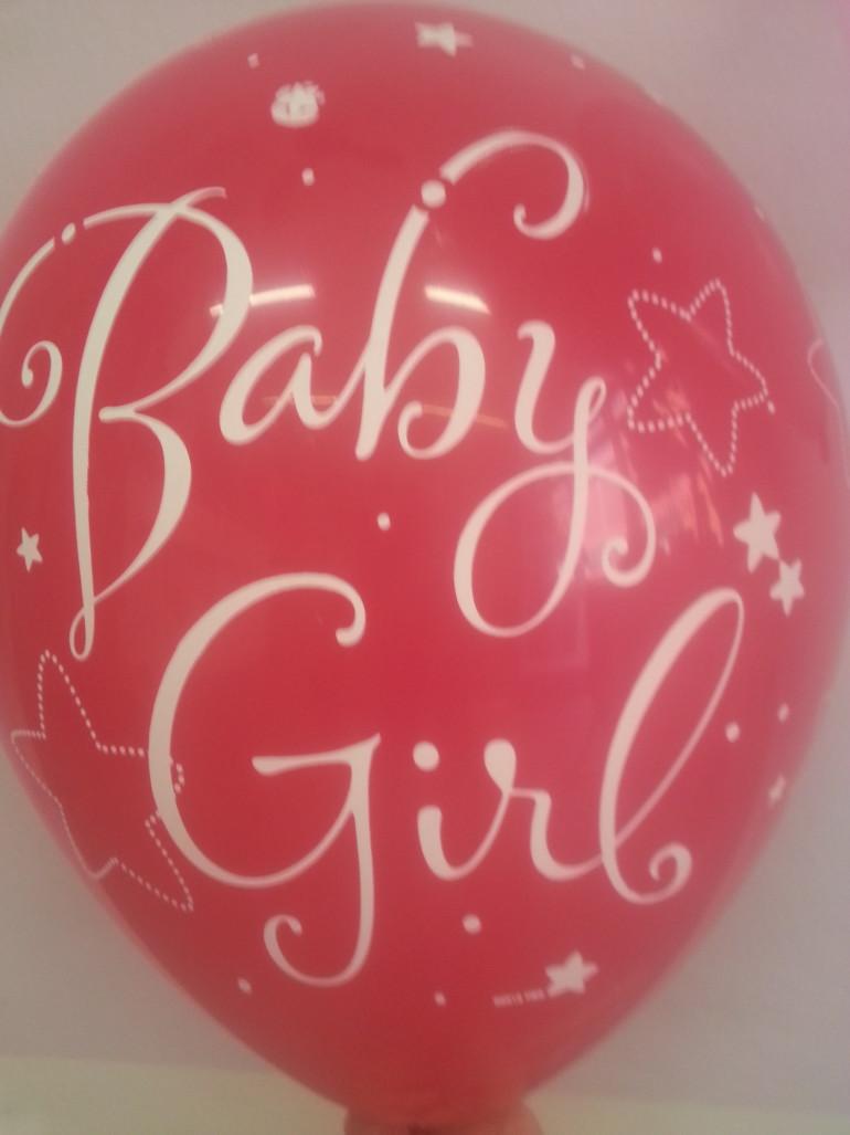 Latexballon Baby Girl pink