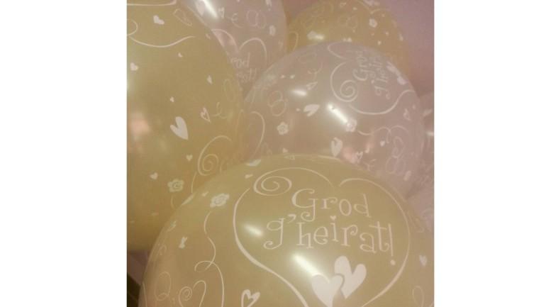 Latexballon creme Grod g'heirat