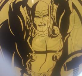 Latexballon gelb Avengers