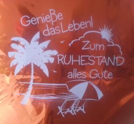 Folienballon gold Genieße das Leben zum Ruhestand alles Gute