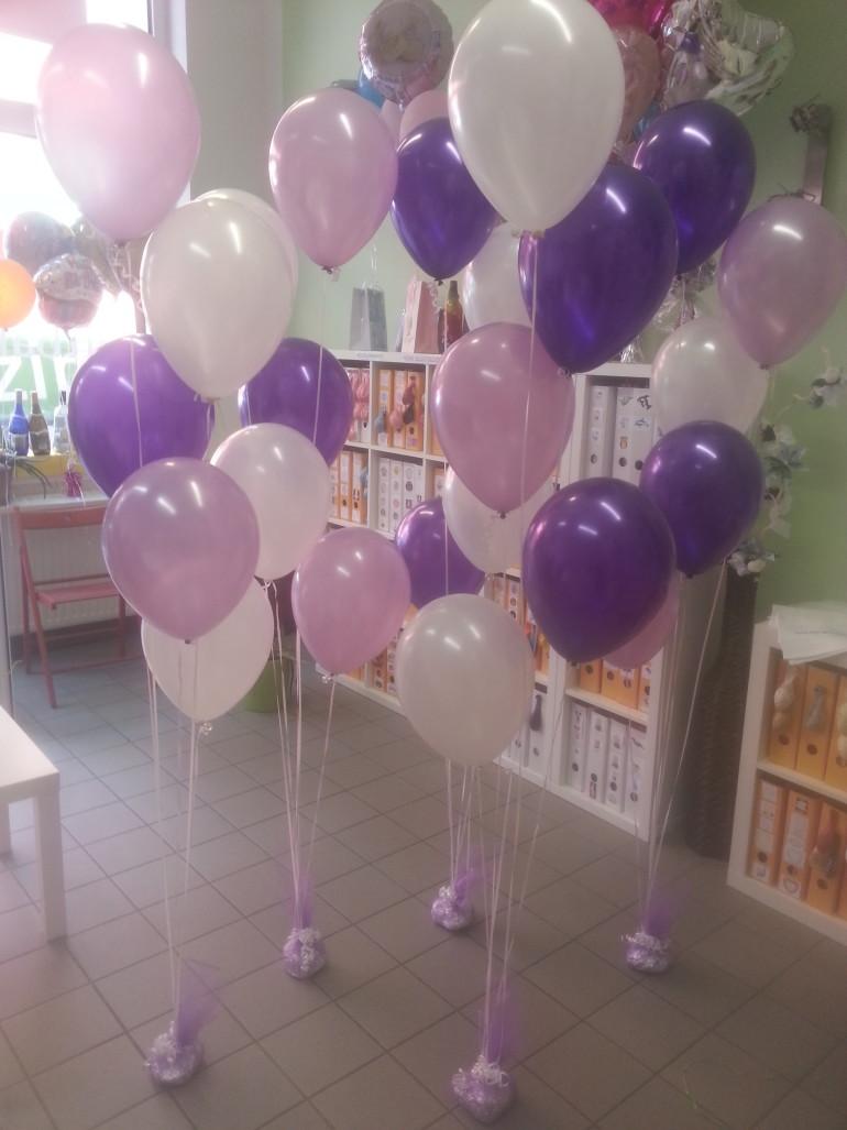 Latexballons lila weiß