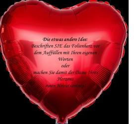 Folienherzballon rot zum persönlichen Beschriften
