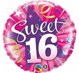 Folienballon Sweet 16