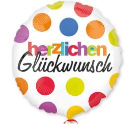 Folienballon bunt Herzlichen Glückwunsch