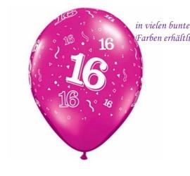 Latexballon 16 diverse Farben