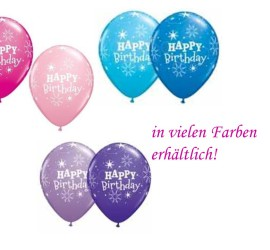 Latexballons Happy Birthday diverse Farben