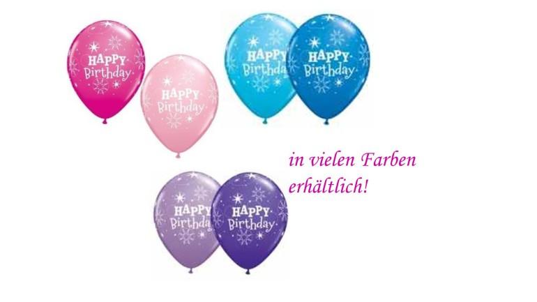 Latexballons Happy Birthday diverse Farben