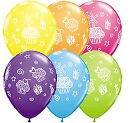 Latexballons Muffins diverse Farben