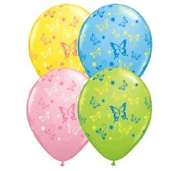 Latexballons Schmetterlinge diverse Farben