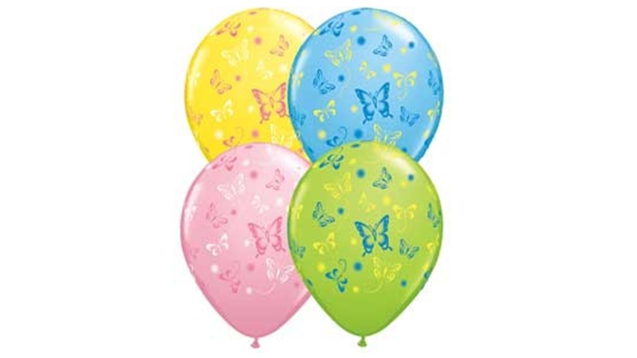 luftballons bunte luftballons mit schmetterlingen butterflyballoons. Black Bedroom Furniture Sets. Home Design Ideas