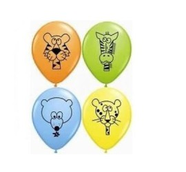 Latexballons wilde Tiere diverse Farben