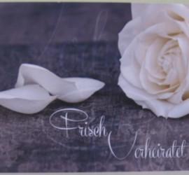 Flugkarte Frisch Verheiratet