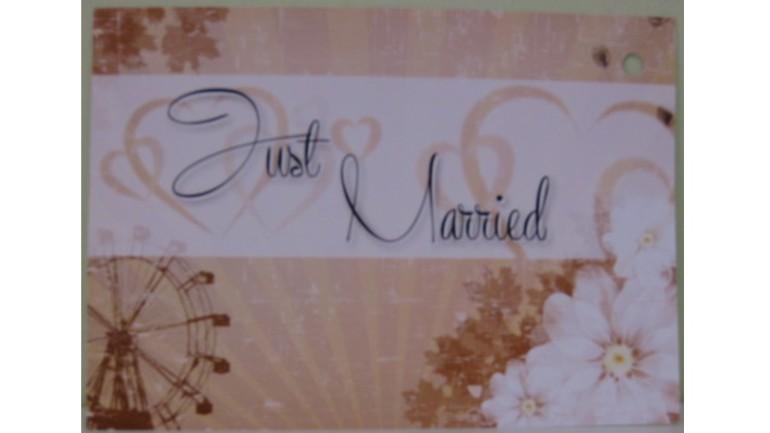 Flugkarte Just Married