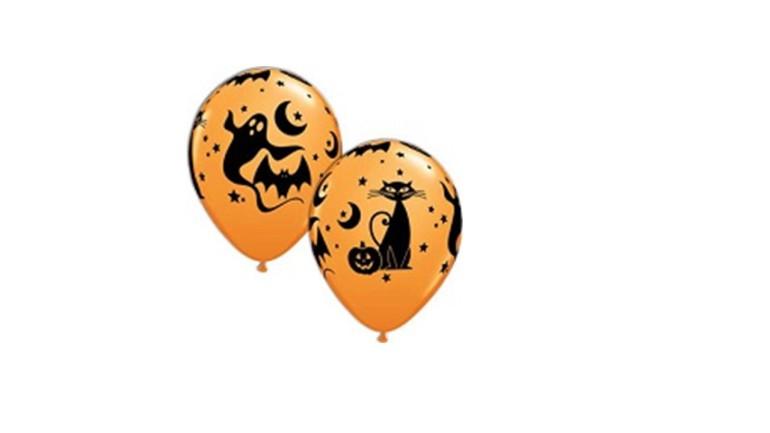 Latexballons Halloween Geist Katze