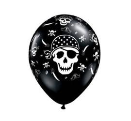 Latexballons schwarz Pirate Skull