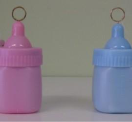 Luftballonhalter Babyfläschchen rosa blau