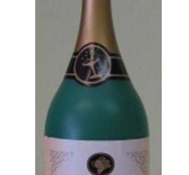 Luftballonhalter Champagner Flasche