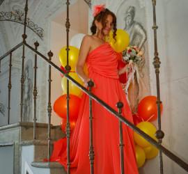 Foto Braut mit Luftballons