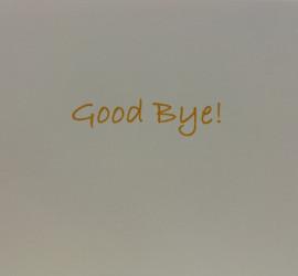 Flugkarte Good Bye Verabschiedung