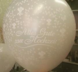 Latexballon Zur Hochzeit alles Gute cremefarben