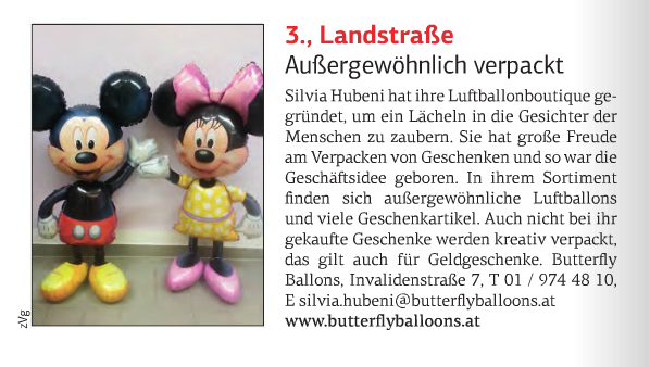 Beitrag über Butterfly Balloons