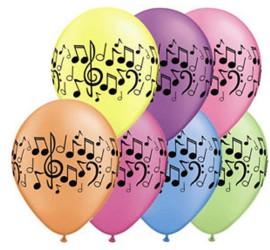 Latexballons Noten diverse Farben
