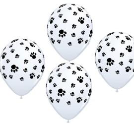 Latexballons Pfotenabdrücke