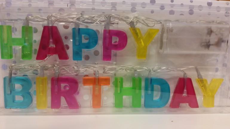 Leuchtbuchstaben bunt Happy Birthday
