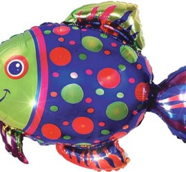 Folienballon Regenbogenfisch