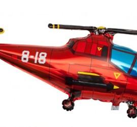 Folienballon Hubschrauber rot