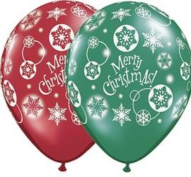 Latexballons Weihnachten Merry Christmas rot grün