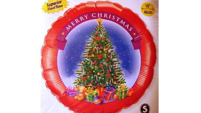 Folienballon Merry Christmas klassisch
