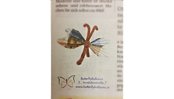 Butterfly Balloons Presse Zeitung