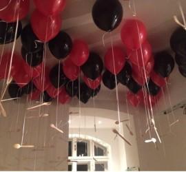 Latexballons rot schwarz