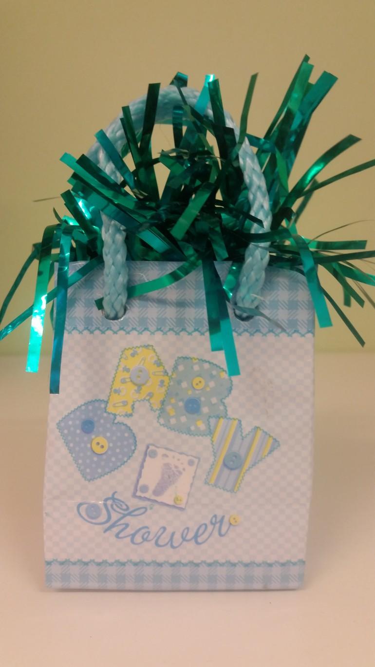 Luftballonhalter blau Baby Shower