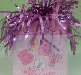 Luftballonhalter rosa Baby Shower