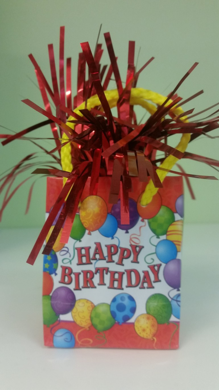 Luftballonhalter bunt Happy Birthday