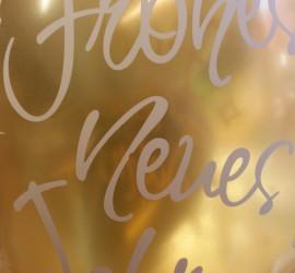 Latexballon Frohes Neues Jahr gold