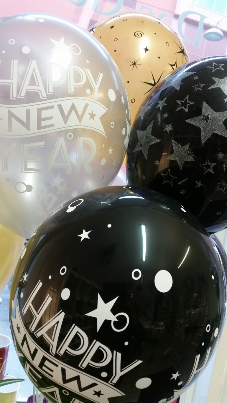 Latexballons Happy New Year diverse